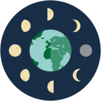 icône de phase de lune