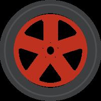 rueda de fundición de coche