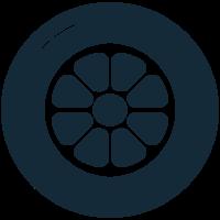 roda de carro fundido