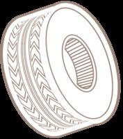 rueda de goma del coche
