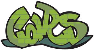 Graffiti typography