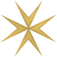 Gold maltese cross