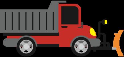 caminhão arado de neve png