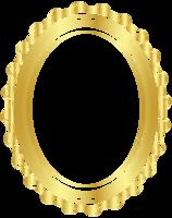 marco ovalado de oro