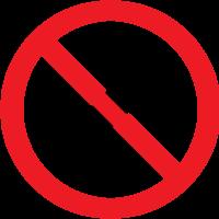 Prohibition sign fireworks