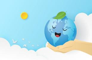 World earth day background concept vector