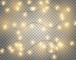 Glowing String Lights vector