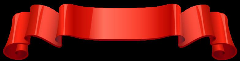 fita vermelha brilhante