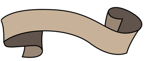 Outline ribbon png