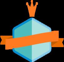 Badge with ribbon png