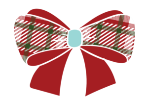 Cute bow with pattern png