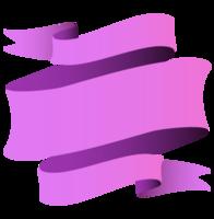 banner ondulado roxo