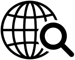 icono del mundo de cuadrícula
