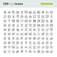 Set of Icons for Education and Environment vector