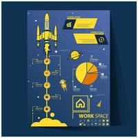 Set of infographic for business plan vector