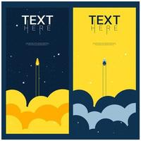 Blue and yellow space explore the universe background  vector