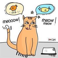 gato gracioso de dibujos animados