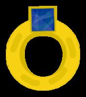 anillo de diamantes de oro