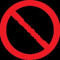 fotocamera segno di divieto