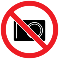 Prohibited sign no camera png