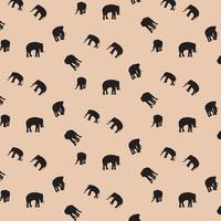Elephant silhouette pattern background