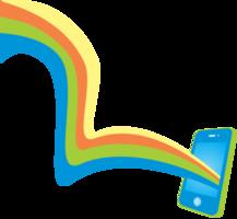 telefone arco-íris