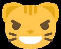 emoji kat gezicht kwade glimlach png