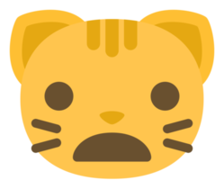emoji chat visage halètement