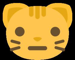 emoji kattengezicht neutraal png