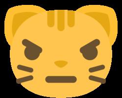 emoji kattengezicht boos png