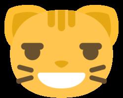 emoji kattengezicht lachen png