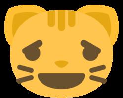emoji kattengezicht verdrietig png