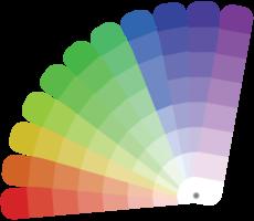 regnbågens färgprov png