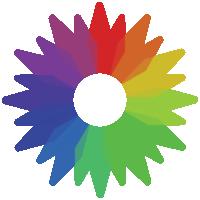 campione di colore arcobaleno png