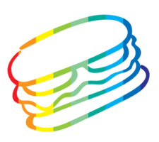 Food with outline rainbow png