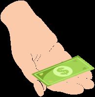 hand met geld