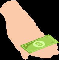 hand med pengar png