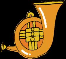 handgezeichnetes Musikinstrument Tuba