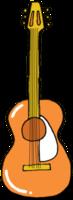 guitarra de instrumentos musicales dibujados a mano