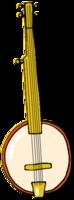 Instrumento musical dibujado a mano banjo