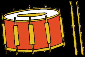 handgezeichnete Musikinstrumententrommel