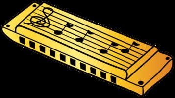 hand getekende mondharmonica
