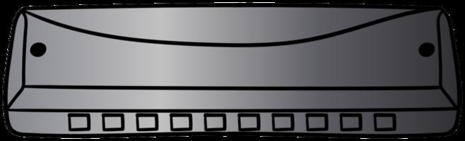 handgezeichnete Mundharmonika