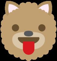 emoji hond gezicht tong png