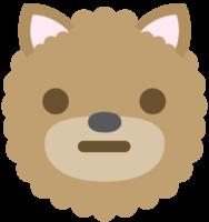 emoji hond gezicht neutraal png