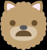 emoji hond gezicht verdrietig png