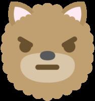 Emoji dog face angry png