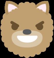 Emoji dog face evil smile png