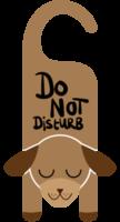teken dier hond niet storen png