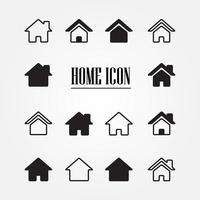 conjunto de iconos de inicio vector